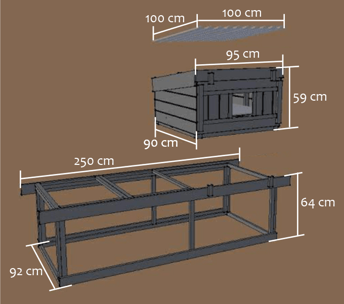 cheshire chicken coop dimensions