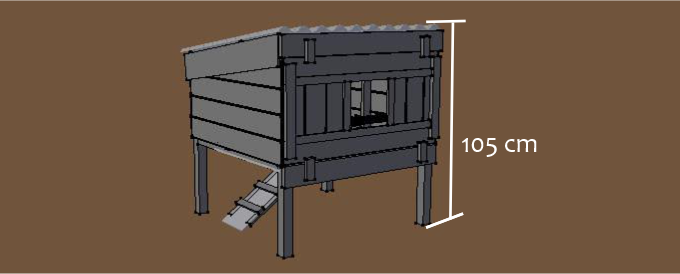 cheshire chicken coop with legs dimensions